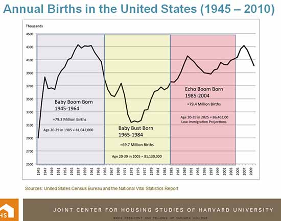Annual Birth Rate Chart