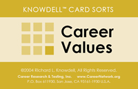 picture of knowdell values card - backside