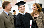 Parents and son career counseling clients