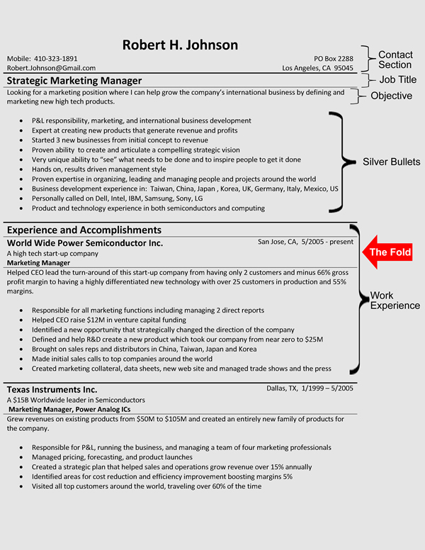 The Hybrid Resume Format – Hybrid Resume Samples