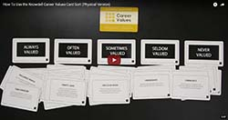 Knowdell Career Values Card Sort Video